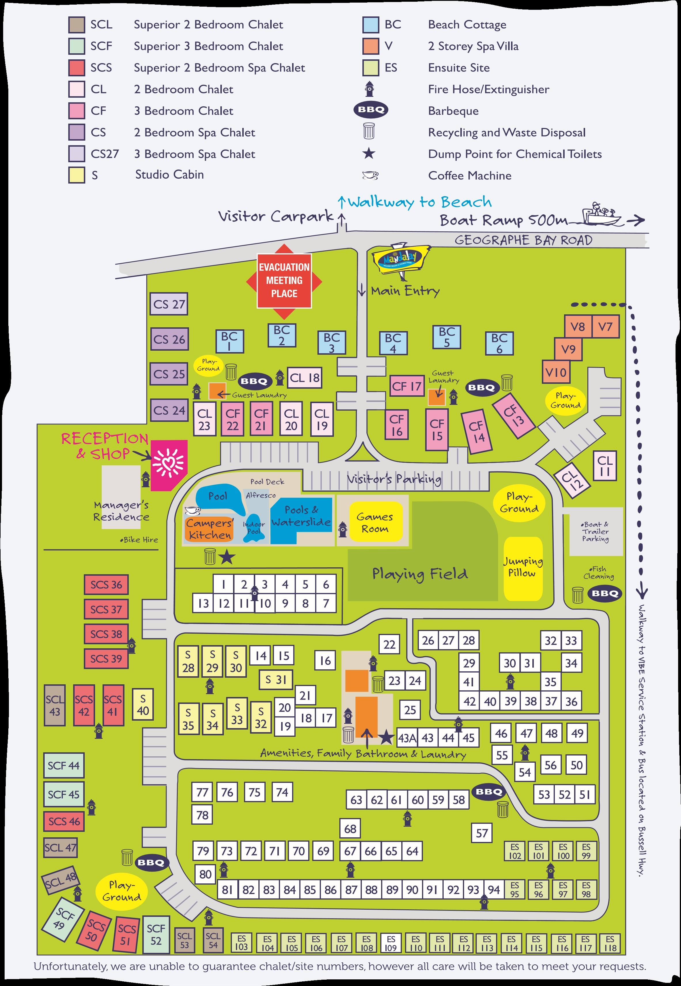 park layout map mandalay resort